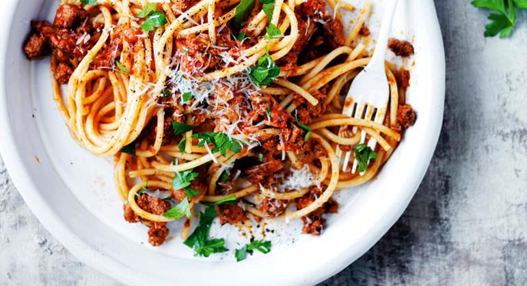 spaghetti met bier en bacon