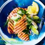 gegrilde zalm avocado dille saus   delicious