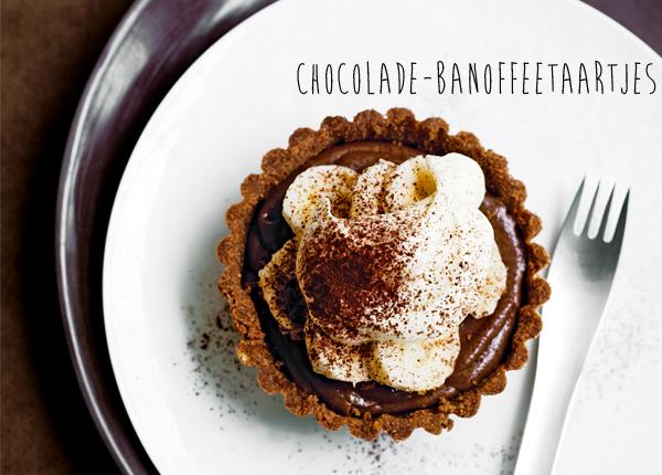 chocoladetaartjes met banoffee