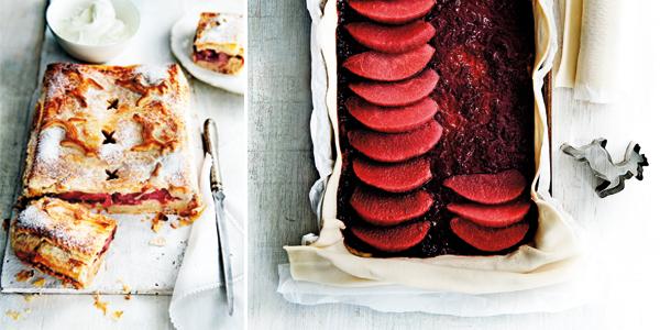 feesttaart met stoofperen-cranberrytaart & frangipane