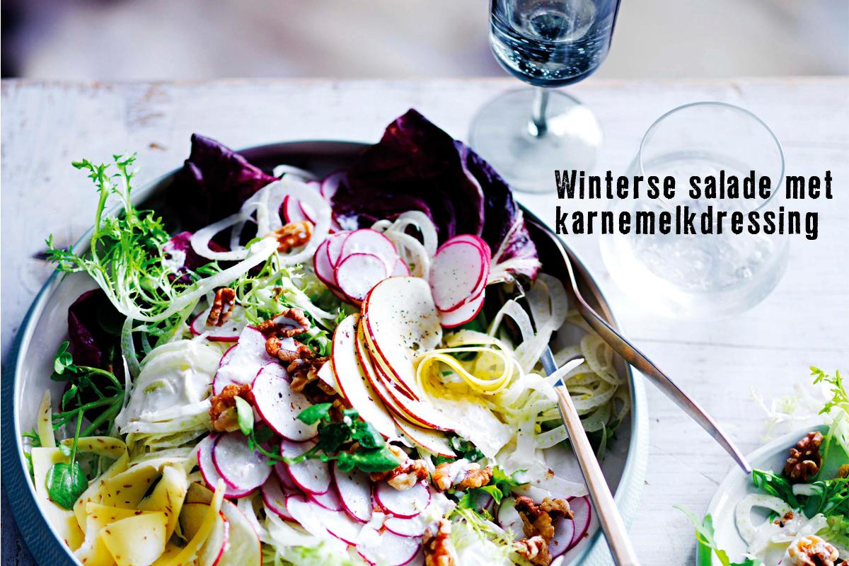 winterse salade met karnemelkdressing