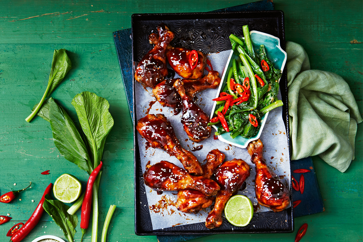 oosterse drumsticks met paksoi | delicious. magazine