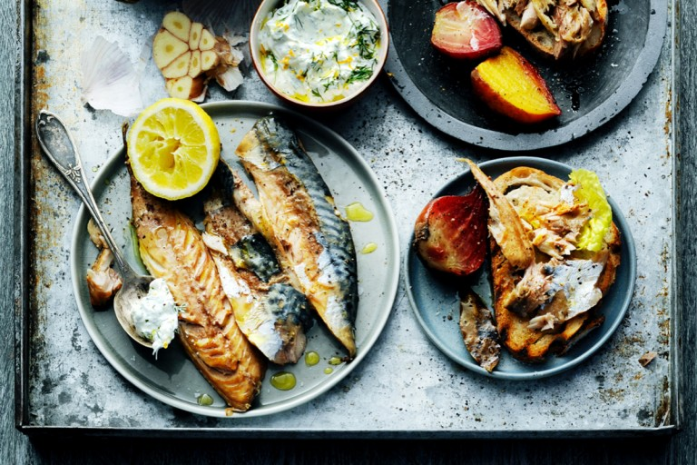 homemade gerookte makreel