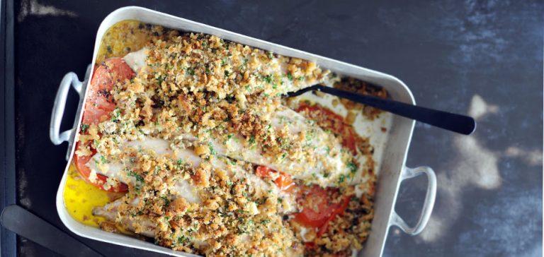 makreel met brood en kappertjes