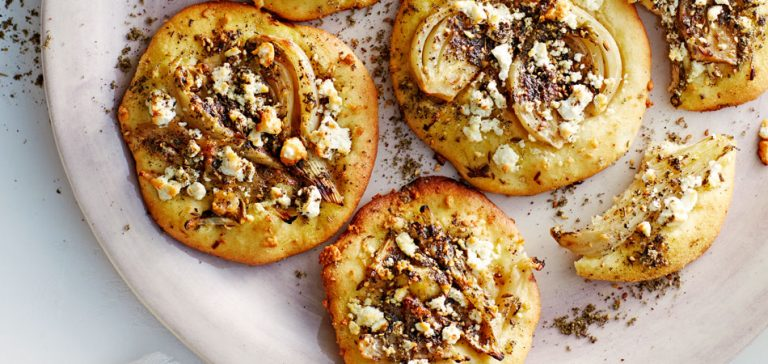 mini pita-pizza's met za'atar