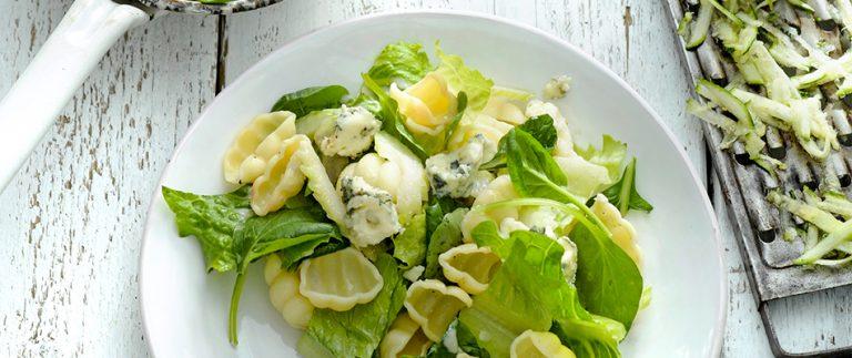 pastasalade met bluecheesedressing