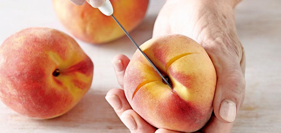 gepocheerde perziken-delicious
