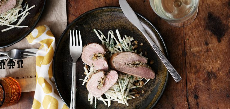 varkensvlees gevuld met walnoten