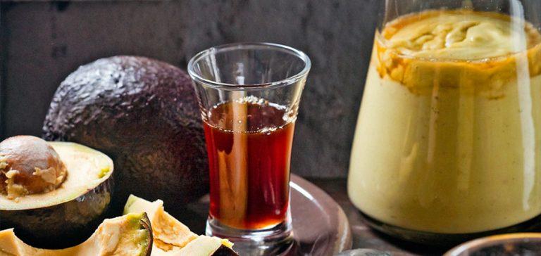avocadosmoothie met koffie