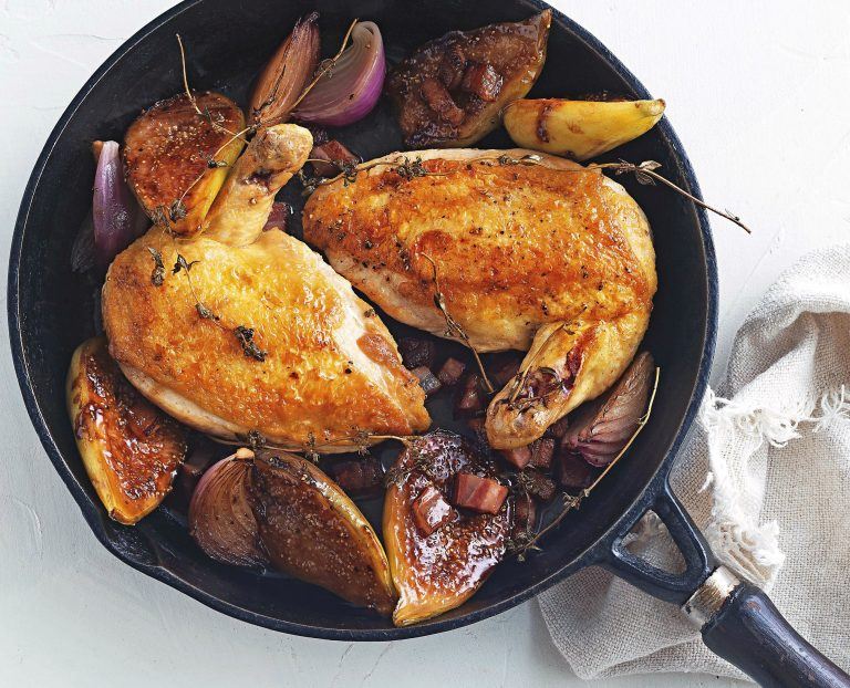 vijgen met kip uit de oven