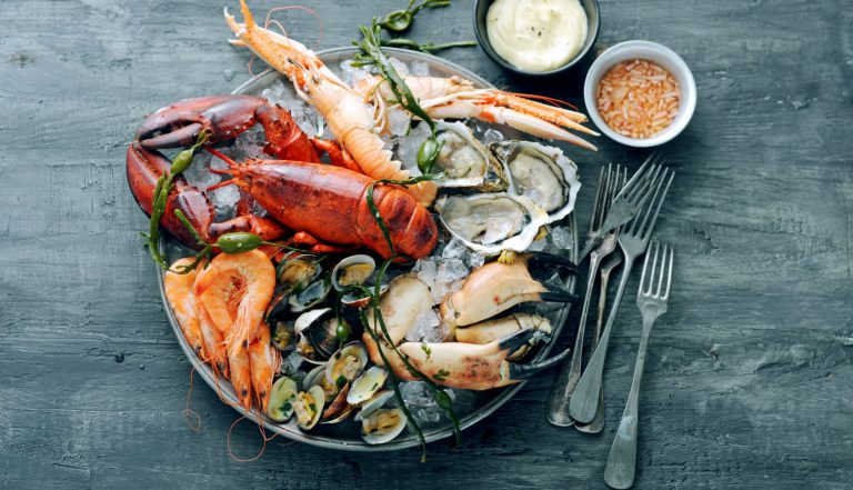 fruits de mer met mayonaisesaus