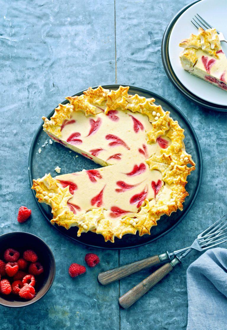 cheesecake met citroen en frambozen