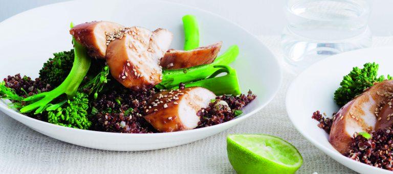 kip uit de oven met tamari en ahornsiroop