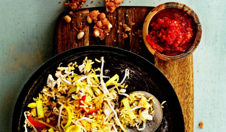 nasi met tofoe en tomatensambal