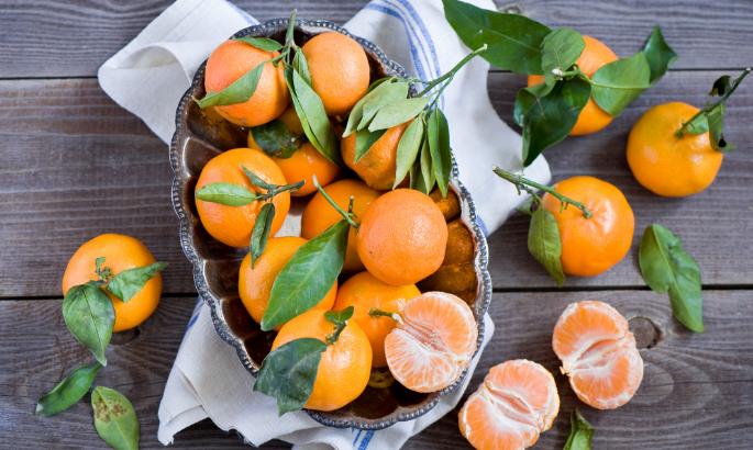 oranje held: mandarijn