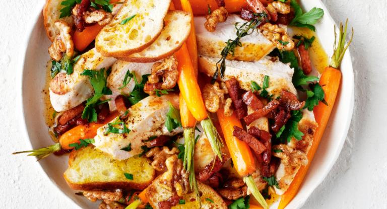 geroosterde wortelsalade