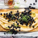 taart met bosbessen en lemon curd