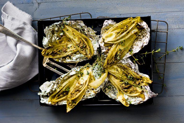 gekonfijte witlof met citroen en ansjovis