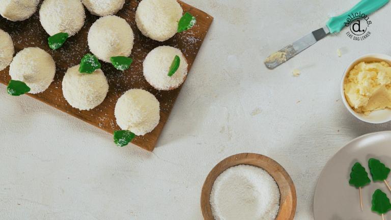 kokos-kerstboommuffins