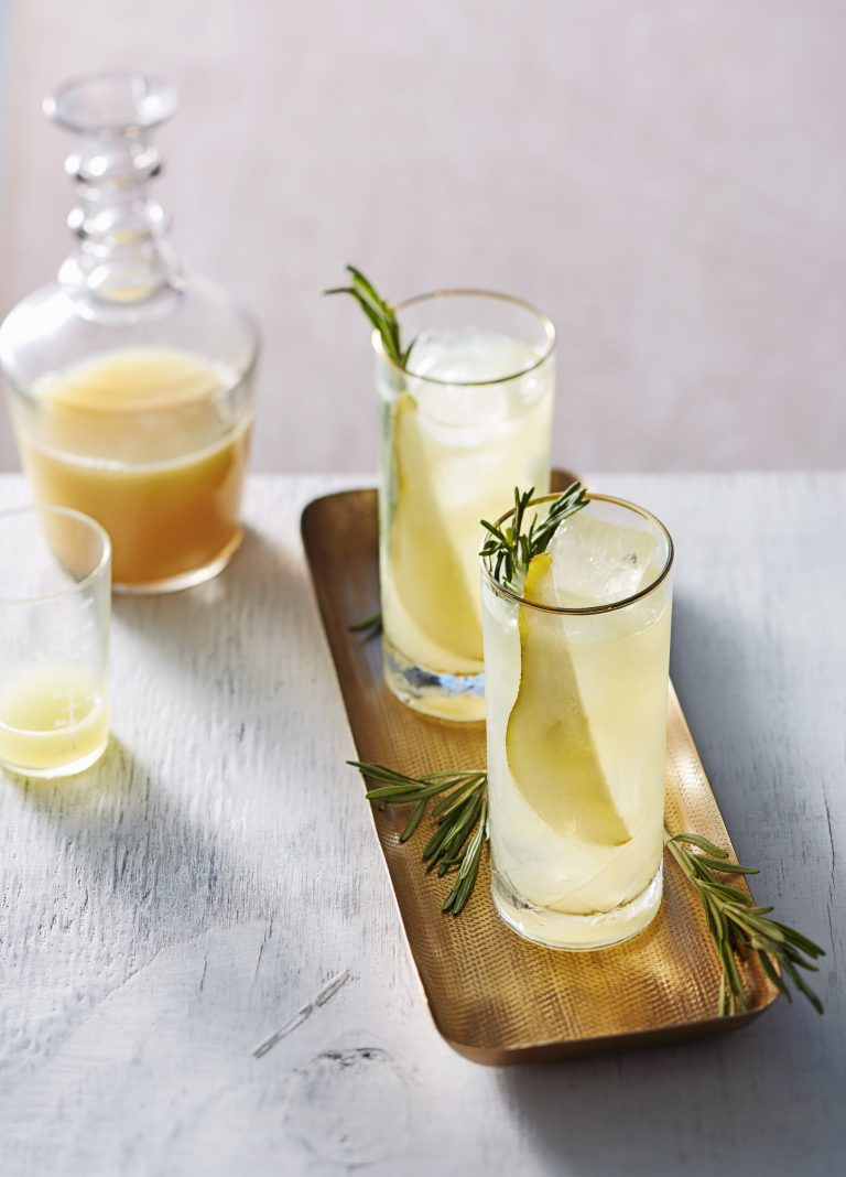 mocktail: rosemary's pear