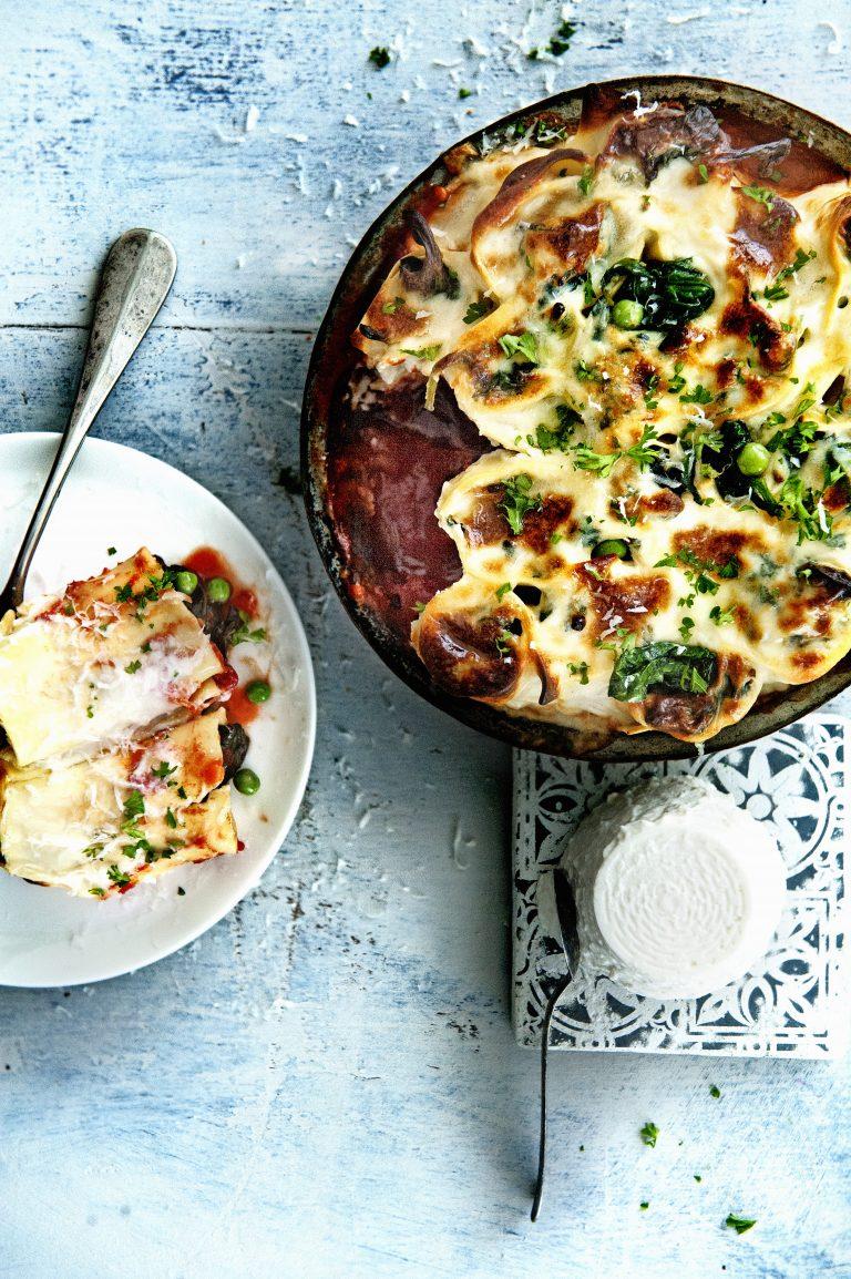 cannelloni met wilde spinazie en ricottabechamel