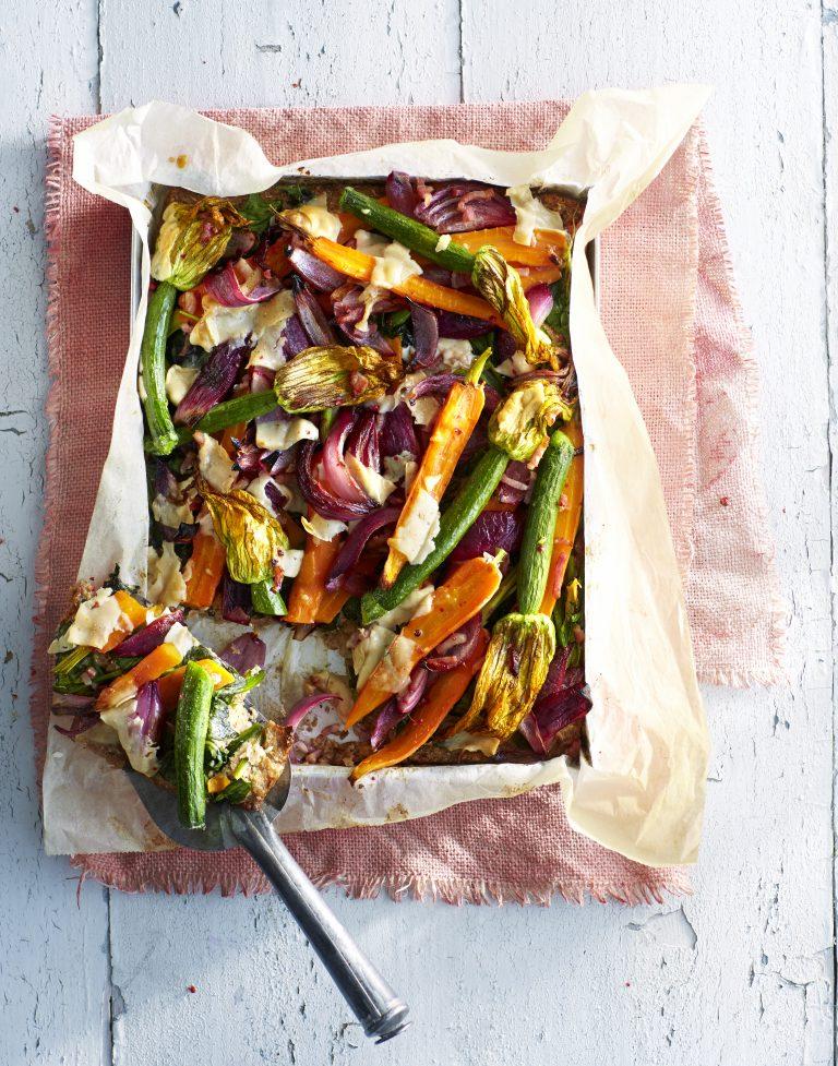 bloemkool plaattaart groenten | delicious