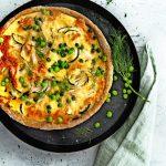 kipquiche met groenten | delicious