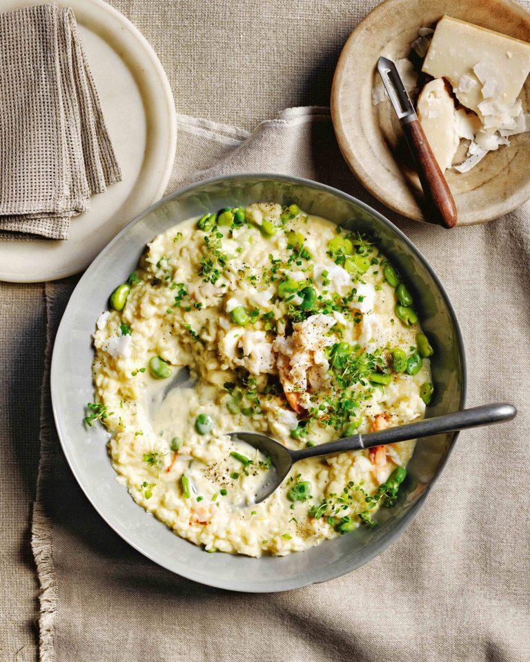 risotto met tuinbonen - delicious