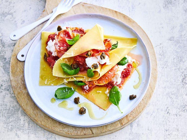 lasagne met pancetta zonder oven