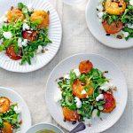 salade met peer en geitenkaas - delicious
