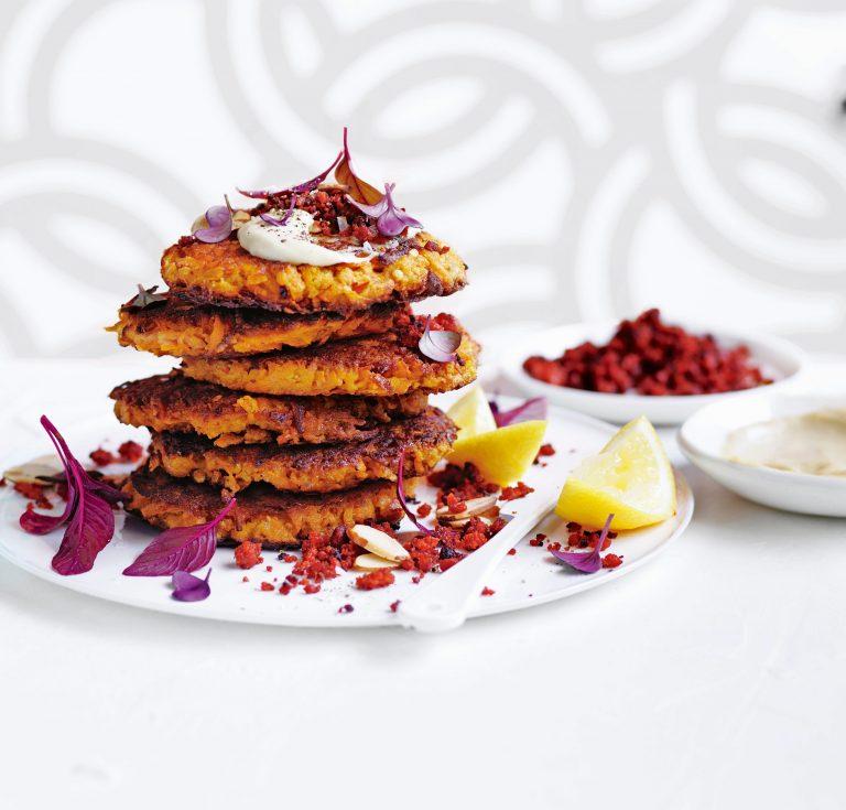zoete-aardappelkoekjes met chorizo