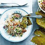 feta rijstsalade in druivenbladeren | delicious