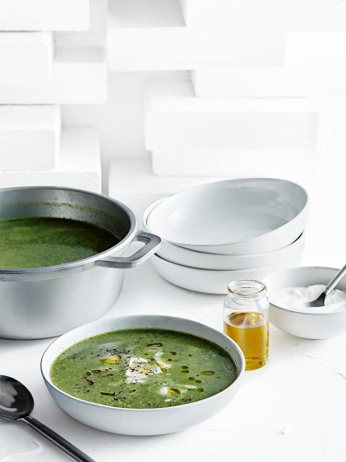 groentesoep met kikkererwten | delicious