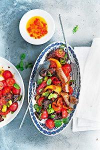 geroosterde paprika salade
