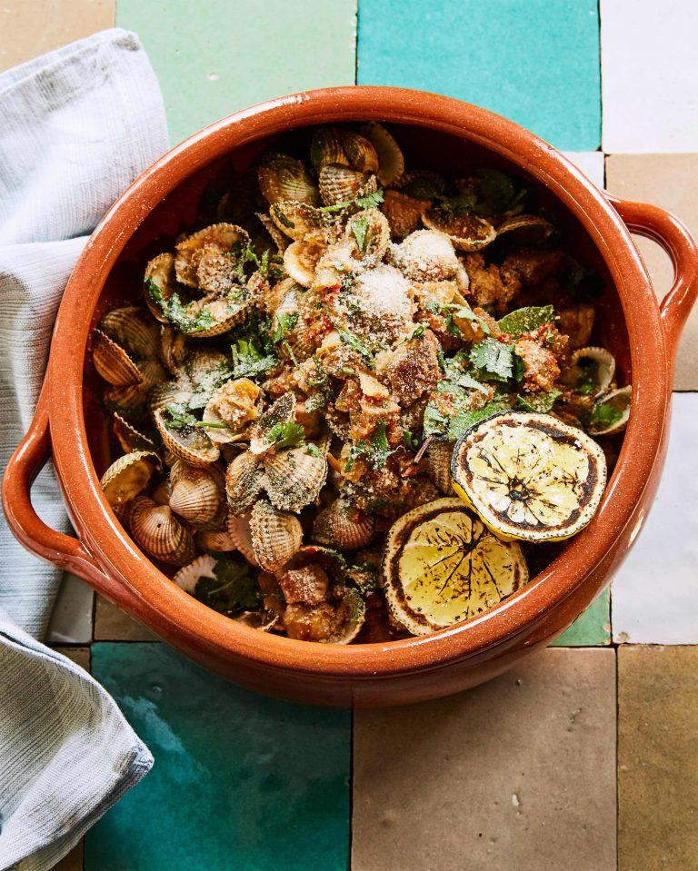 kokkels met massa de pimentão | delicious