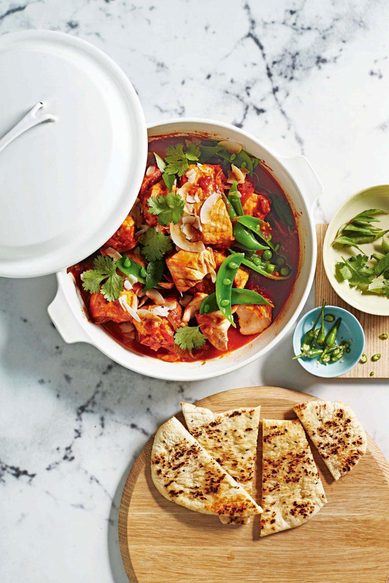 durban-curry met zalm