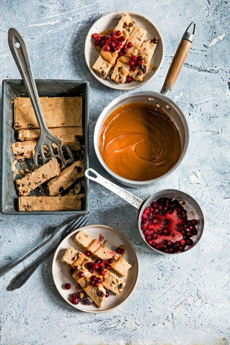 parfait van pindakaas cranberry karamel | delicious