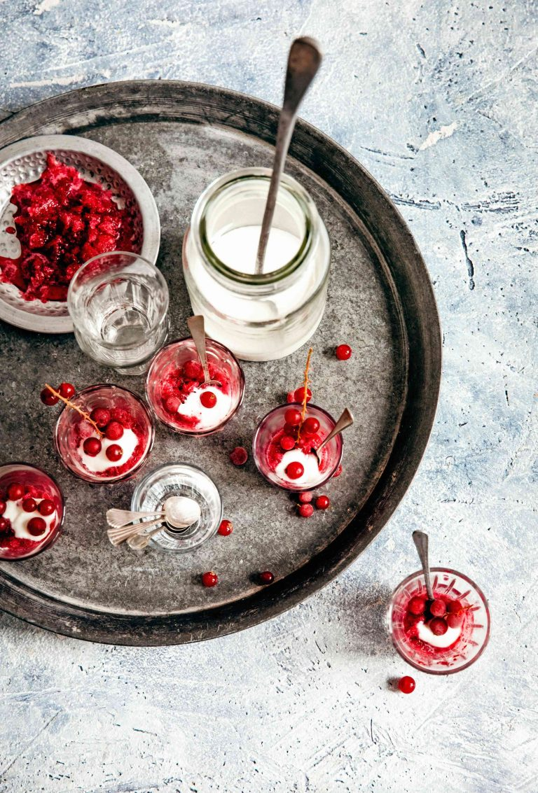 granita van cranberry's | delicious