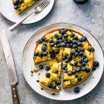 tropisch taartje mango blauwe bessen | delicious