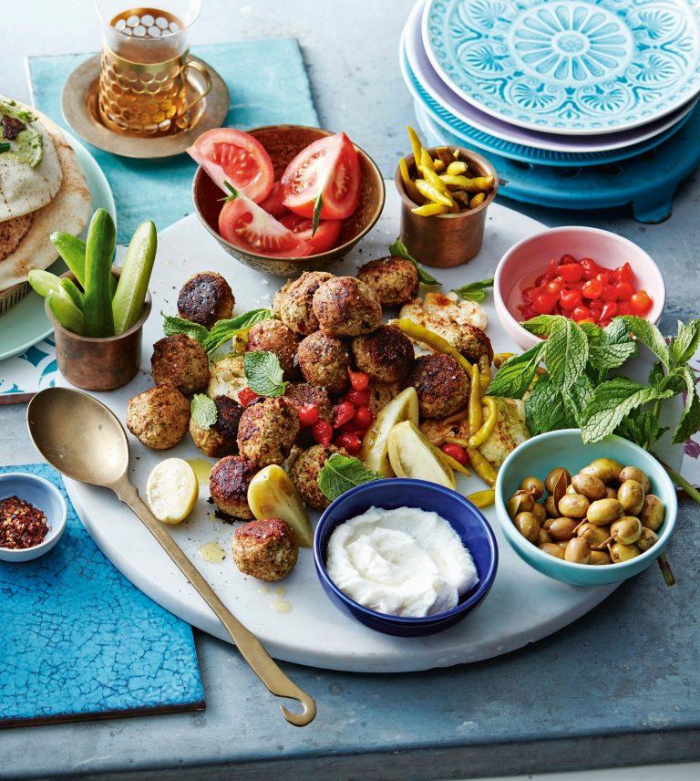 'falafel' van bloemkool en lamsgehakt