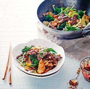 rijstnoedels met biefreepjes | delicious