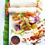 Portugese kipwraps met regenboogsalade - delicious