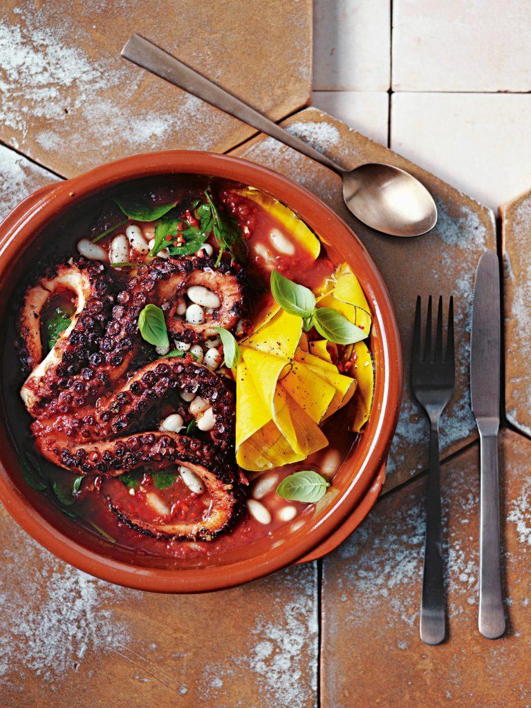 octopus bonenschotel - delicious