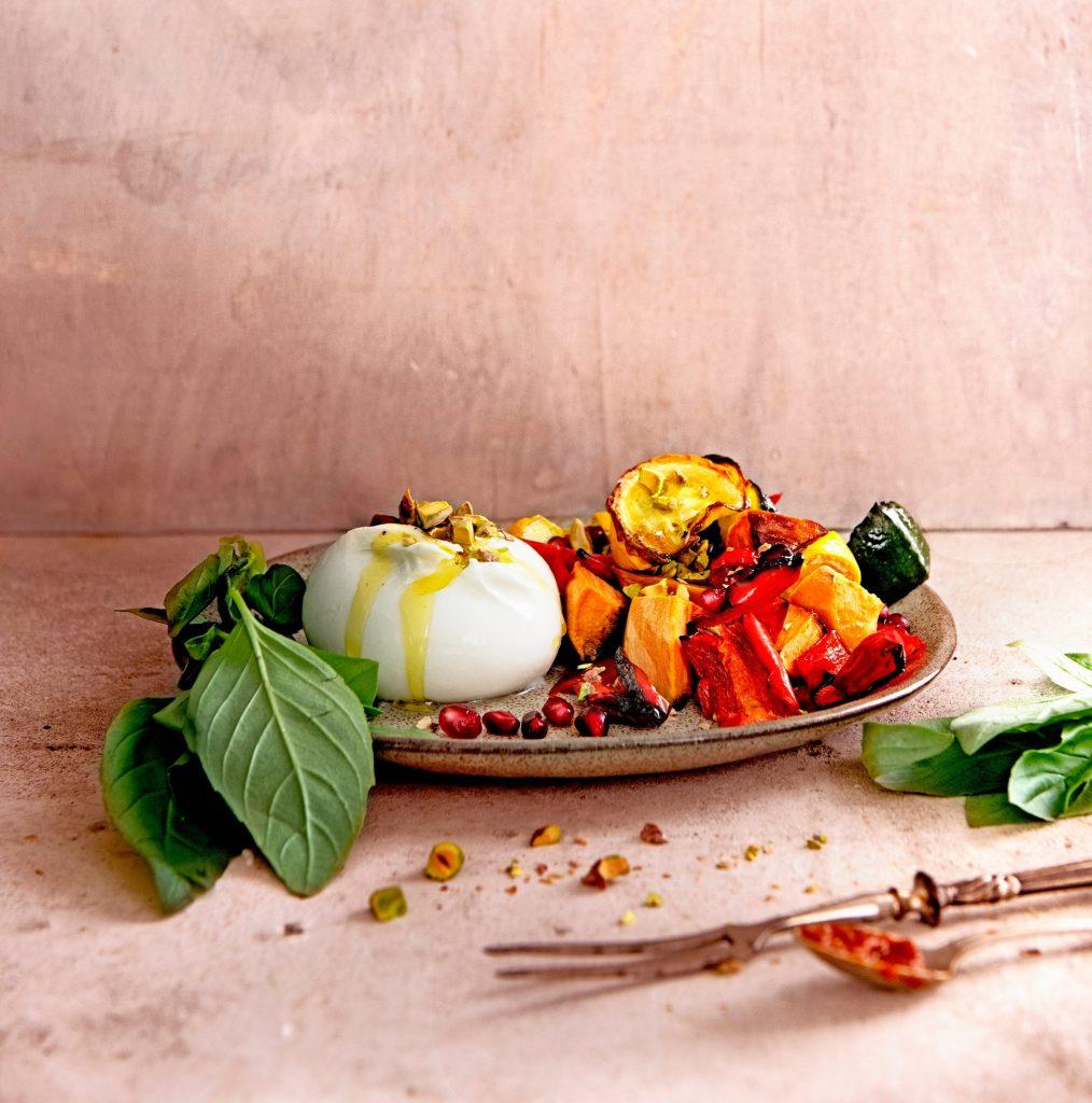 burrata met geroosterde groenten (1)