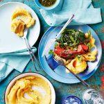chorizoworstjes met pompoen-aardappelpuree - delicious