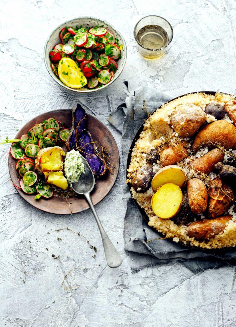 aardappels in tijm-zoutkorst