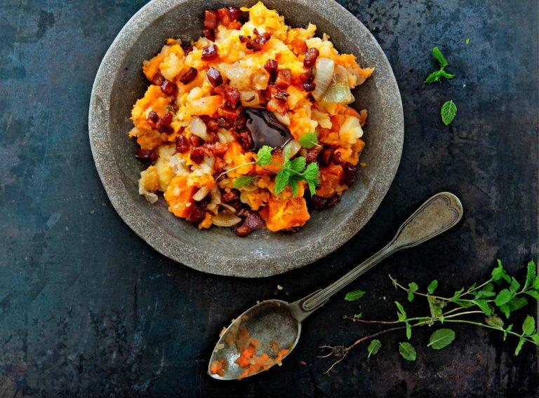 hutspot met zoete aardappel en venkeljus