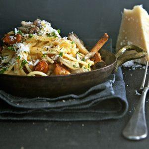 spaghetti-carbonara veg delicious.