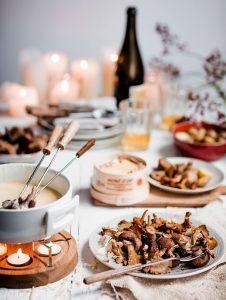 klassieke Zwitserse fondue delicious.