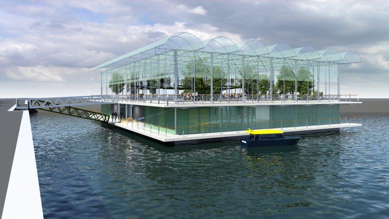 De Floating Farm is de eerste drijvende koeienstal ter wereld